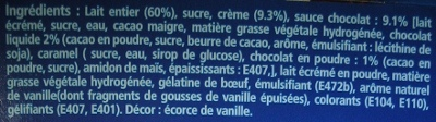 Analyse d'étiquette - Informations alimentaires - Webadditifs